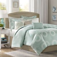 Madison Park Baxter Full/Queen Duvet Cover Set in Blue
