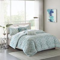 Madison Park Pure Elena 5-Piece Reversible King/California King Comforter Set in Aqua