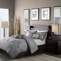 Madison Park Quinn King/California King Duvet Cover Set in Grey