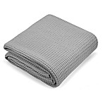 Metallic Oversized Knit Throw Blanket in Grey