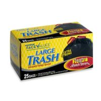 Harmon® Face Values™ 25-Count 30 Gallon Large Trash Drawstring Bags