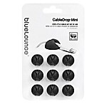 9-Pack CableDrop Mini Cable Holders in Black
