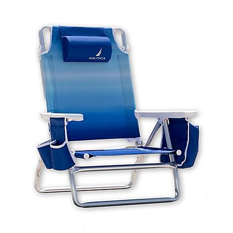 Nautica 174 5 Position Beach Chair Bed Bath Amp Beyond