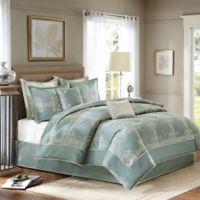 Madison Park Signature Newhaven 8-Piece Queen Comforter Set in Blue