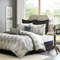 Madison Park Paxton 12-Piece King Comforter Set in Grey