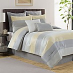 Victoria Classics Hudson 8-Piece Reversible Full Comforter Set in Grey