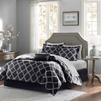 Madison Park Essentials Merritt 7-Piece Reversible Twin Comforter Set in Black