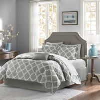 Madison Park Essentials Merritt 7-Piece Reversible Twin Comforter Set in Grey