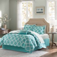 Madison Park Essentials Merritt 7-Piece Reversible Twin Comforter Set in Aqua