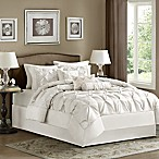 Madison Park Laurel 7-Piece Queen Comforter Set in White