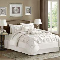 Madison Park Laurel 7-Piece King Comforter Set in White