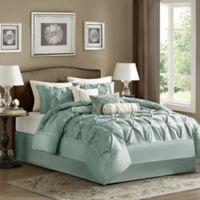 Madison Park Laurel 7-Piece Queen Comforter Set in Blue