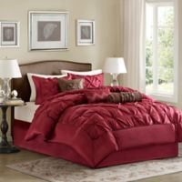 Madison Park Laurel 7-Piece Queen Comforter Set in Red