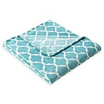 Madison Park Ogee Oversized Throw in Aqua