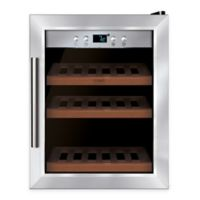 Caso® Wine Master 12-Bottle Stainless Steel Wine Cooler with Compressor