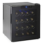 Wine Enthusiast® Silent 16-Bottle Single-Zone Wine Cooler in Black
