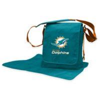 Lil Fan NFL Miami Dolphins Messenger Diaper Bag
