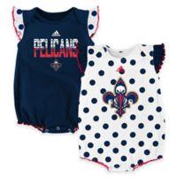 "NBA New Orleans Pelicans Size 0-3M ""Polka Fan"" Bodysuits (Set of 2)"
