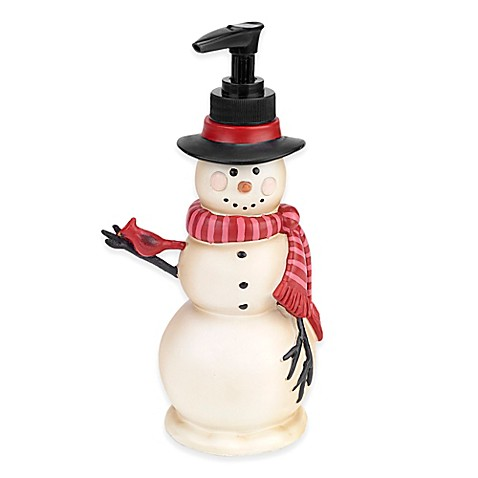Tall Snowman Soap Dispenser In Ivory Bed Bath Beyond