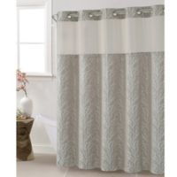 Hookless Jacquard Tree Branch 54-Inch x 80-Inch Shower Curtain in Taupe