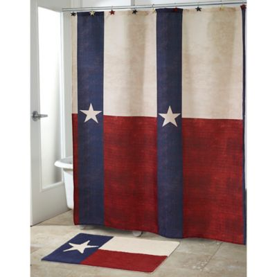 Avanti Texas State Flag Shower Curtain In Red White Blue
