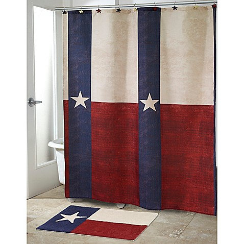 Buy Avanti Texas State Flag Shower Curtain In Red White
