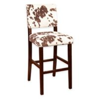 Corey Udder Madness 30-Inch Barstool in Brown/White