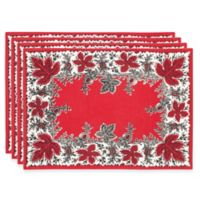 Botanique Placemats in Red (Set of 4)