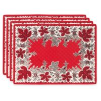 Botanique Quilted Placemats in Red (Set of 4)