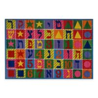 Fun Rugs® Hebrew Numbers and Letters 3-Foot 3-Inch x 4-Foot 10-Inch Area Rug