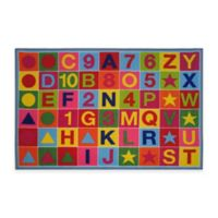 Fun Rugs™ AlphaNumeric Fun 3-Foot 3-Inch x 4-Foot 10-Inch Area Rug