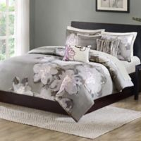 Madison Park Serena King/California King Duvet Cover Set in Grey
