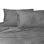 Leopard Jacquard Queen Sheet Set in Pewter