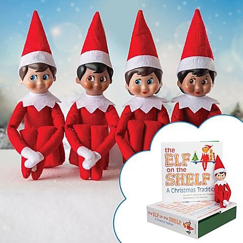 the elf on the shelf a christmas tradition book set bed. Black Bedroom Furniture Sets. Home Design Ideas
