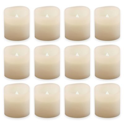 flickering votive candles in white set of 12