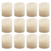 Flickering Battery-Operated Votive Candles in White (Set of 12)