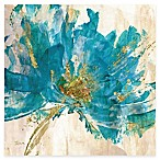 Courtside Market Contemporary Teal Flower II Canvas Wall Art