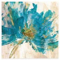 Contemporary Teal Flower II Canvas Wall Art