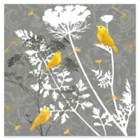 Grey and Gold Finch I Canvas Wall Art