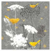 Grey and Gold Finch II Canvas Wall Art
