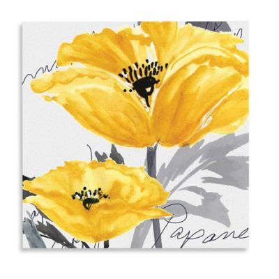 Merveilleux Yellow Poppy I Canvas Wall Art