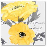 Yellow Poppy II Canvas Wall Art