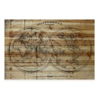 Marmont Hill Mappe 36-Inch x 24-Inch Wood Wall Art