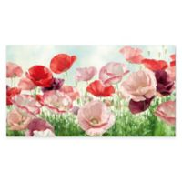 Red and Pink Poppies Canvas Wall Art
