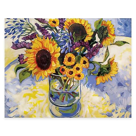 courtside market sunflowers floral canvas wall art bed bath beyond. Black Bedroom Furniture Sets. Home Design Ideas