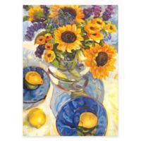 Sunflower & Lemons Floral Canvas Wall Art