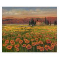 Tuscan Meadow I Canvas Wall Art