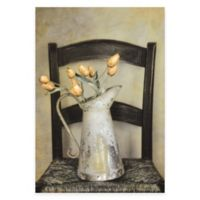 Tulips and Watering Can Canvas Wall Art