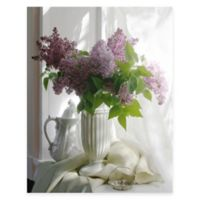Purple Flower Vase II Canvas Wall Art