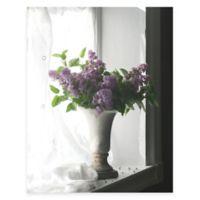 Purple Flower Vase Canvas Wall Art